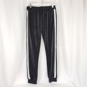 Joggers Black with White Stripe